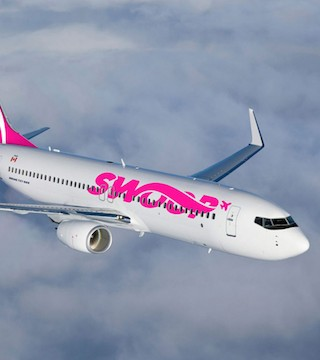 Swoop, an offshoot of WestJet Airlines, makes its maiden flight to Abbotsford, B.C. tomorrow.