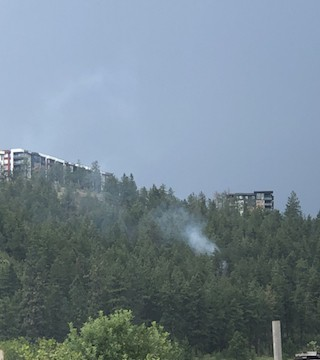 Small spot fire sparks dangerously close to Kelowna's UBC Okanagan campus.