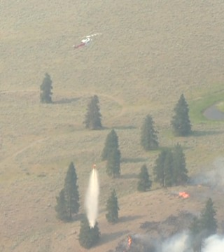 Aerial footage of the Mount Eneas and Goode's Creek wildfires from Thursday show the extent of these fire's destruction.