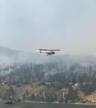 Things are looking a little better Sunday morning for wildfires across the Okanagan after two days of cooler weather.