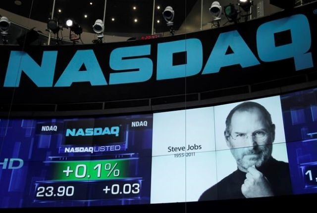 S&P 500, Nasdaq rise as Apple hits Dollars  1 trillion mark
