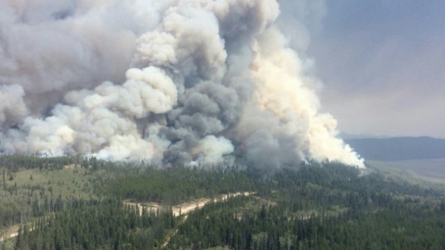British Columbia Wildfire Smoke Creates Thick Haze in Okanagan