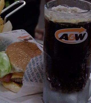 A&W Teen Burgers are the order of the day today. $2 from every Teen Burger sold goes to MS.