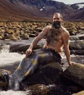 A stunningly popular calendar of burly, bearded mermen posing for charity is back.