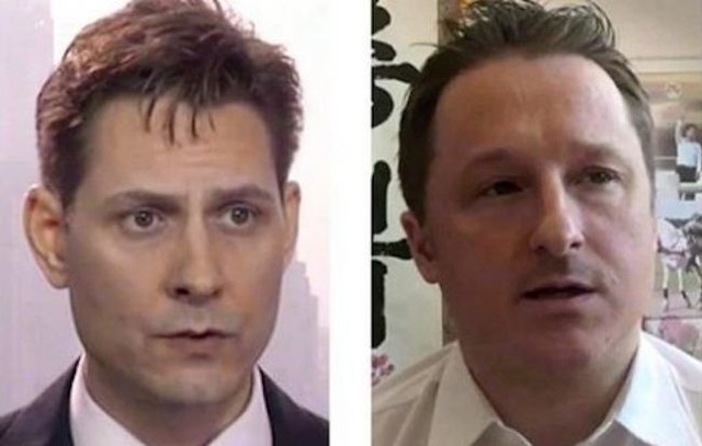 Michael Kovrig left and Michael Spavor