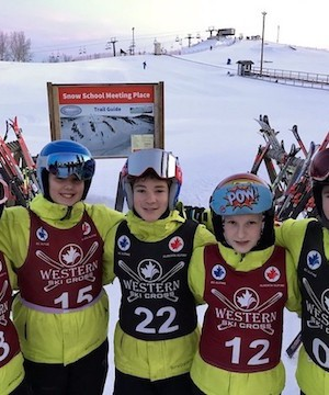 Big White kids podium at Western Canada Ski Cross Series in Edmonton.