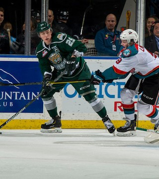 The Kelowna Rockets snapped their six-game losing streak Friday night by beating the top team in the Western Conference.