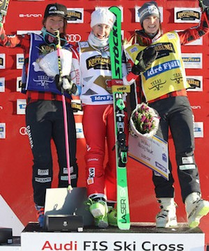 Kelowna's Kelsey Serwa hits the podium in final World Cup ski cross season.
