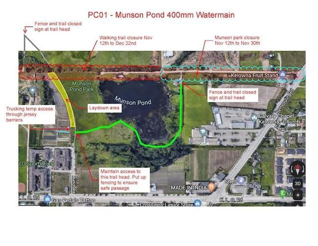 City of Kelowna will be closing areas near Munson Pond - Kelowna News - Castanet.net