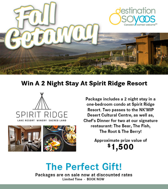 Destination Osoyoos & Spirit Ridge giving away a 'Fall Getaway' - Penticton News - Castanet.net