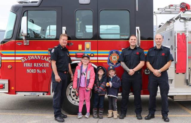 BX/Swan Lake names four Junior Fire Chiefs for a day - Vernon News - Castanet.net
