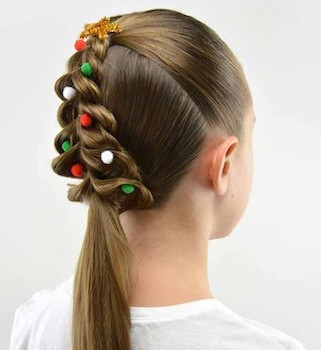 Don?t feel like putting up a Christmas tree this year? Try making one on your head.