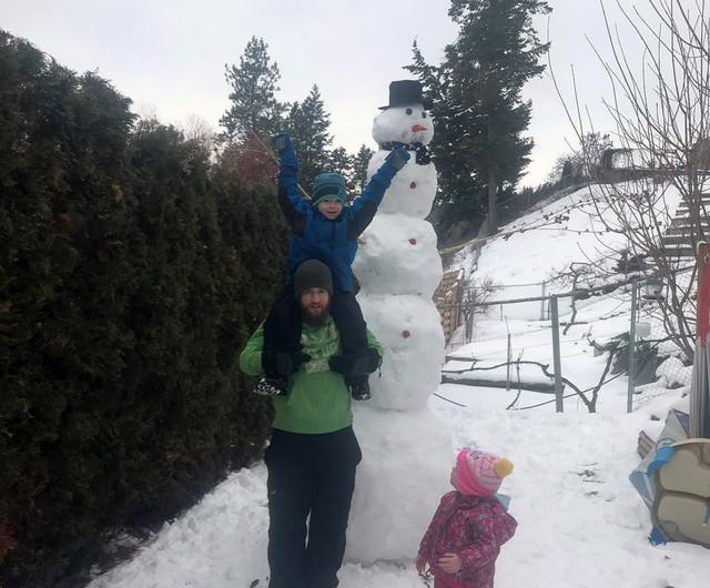 Snowman is abominable - West Kelowna News