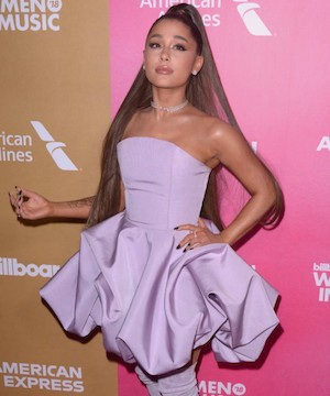 Ariana Grande matches Billboard Hot 100 feat not achieved since The Beatles in 1964.