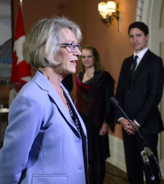 Prime Minister Justin Trudeau has filled a cabinet vacancy with British Columbia MP Joyce Murray.