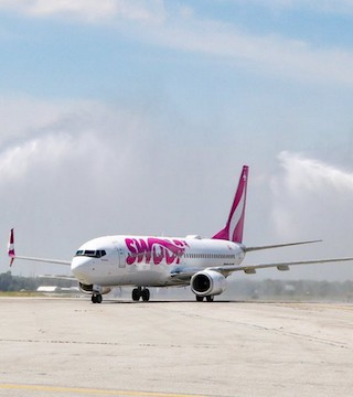 New discount airline Swoop will soon be flying direct to Las Vegas from Kelowna.