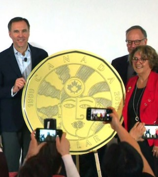 The Mint unveils a commemorative loonie to mark milestone for lesbian, gay, transgender, queer and two-spirited people.