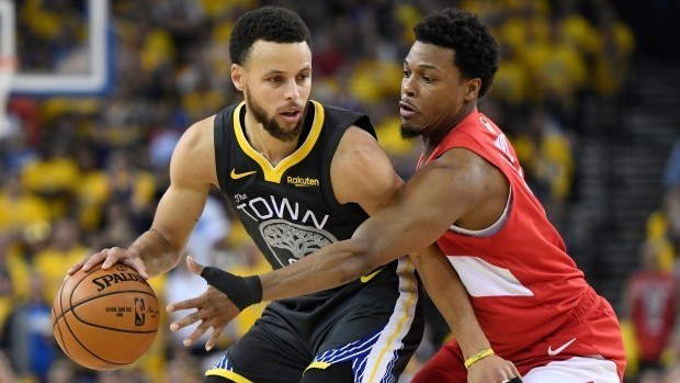 Where can Calgarians watch the Raptors game against the Warriors?