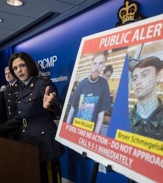Two British Columbia teenagers who were first thought to be missing now considered suspects.