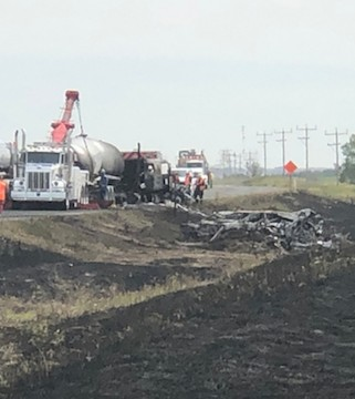 Seven passenger vehicles and three semi trucks collided about 300 kilometres east of Calgary.