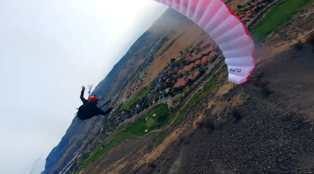 Paraglider takes dizzying, daring flights over Sun Rivers (Kamloops)