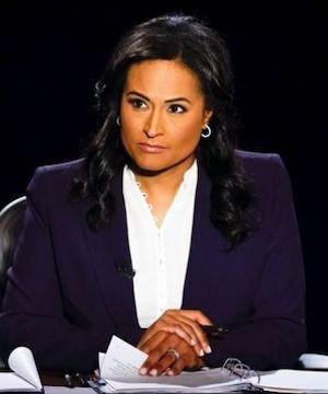 NBC's Kristen Welker keeps a lid on interruptions as presidential debate moderator.