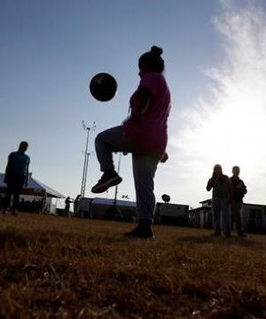 Security hired to control soccer parents angered by COVID rules.