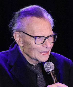 Larry King in hospital, receiving medical treatment for
