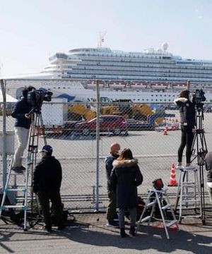 Japan confirms 99 more cases of new virus on cruise ship.