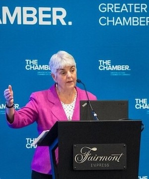 Finance Minister Carole James opens door a crack on employer health tax.