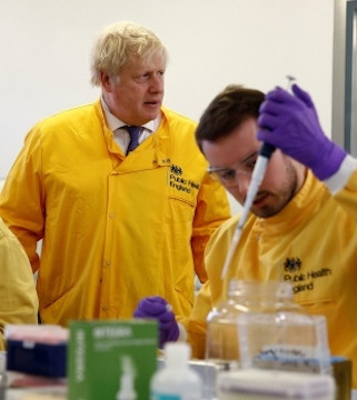 British Prime Minister Johnson tests positive for coronavirus.