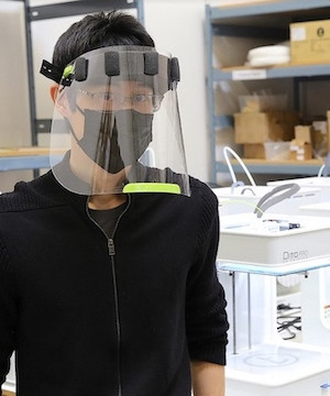 Delta company refocuses, 3-D prints medical face shields to help in pandemic.