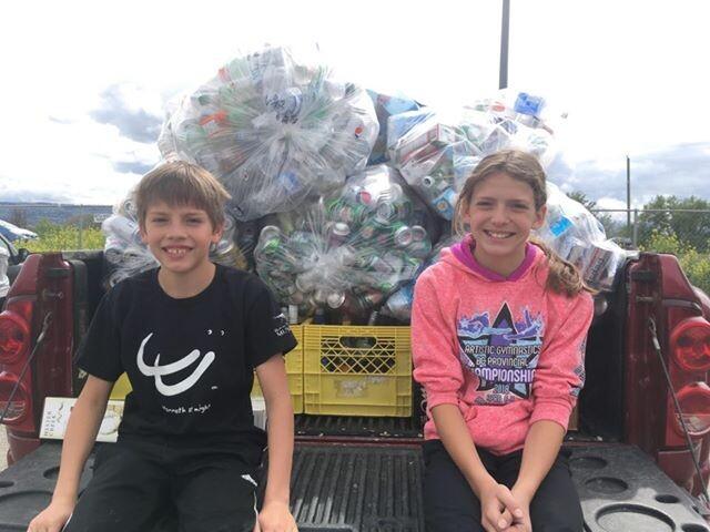 Kamloops siblings crush $10k bottle drive goal for BC Wildlife Park - Kamloops News