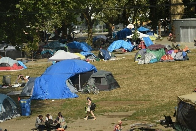 Nearly 600 campers moved into temporary housing amid COVID-19 - BC News