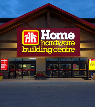 Home Hardware sign tells rude customers to shop somewhere else.