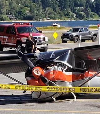 Small plane forced to land in Wholesale Club parking lot.