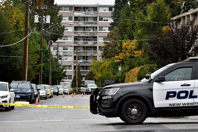 A man was killed near a New Westminster park Friday