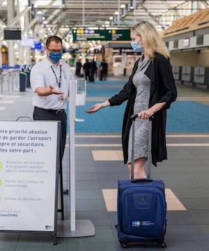 Tickets issued for refusal of hotel quarantine after arriving at Vancouver Airport.