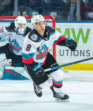 The Kelowna Rockets held on for a sloppy, but well earned 7-5 victory over the Prince George Cougars Saturday night.