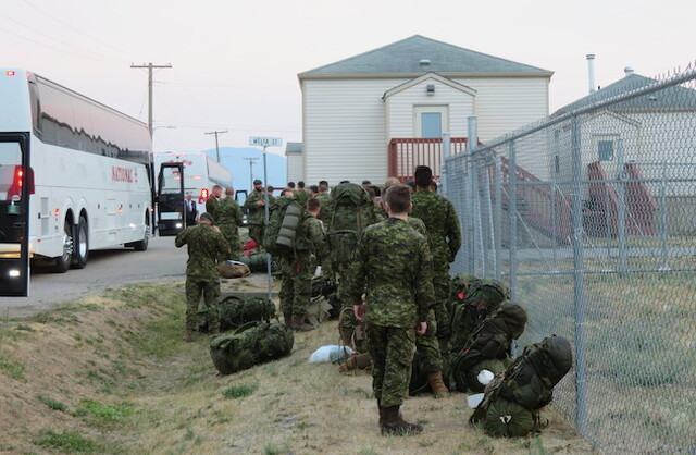 Second wave of soldiers arrives at Vernon cadet camp to help fight BC wildfires