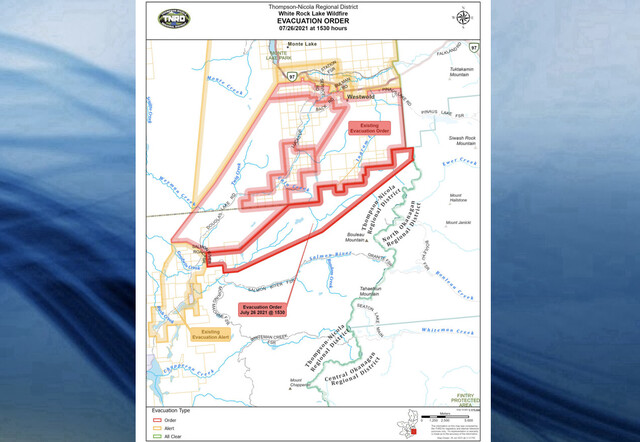 RDNO and TNRD orders properties near Westwold to evacuate due to nearby wildfire