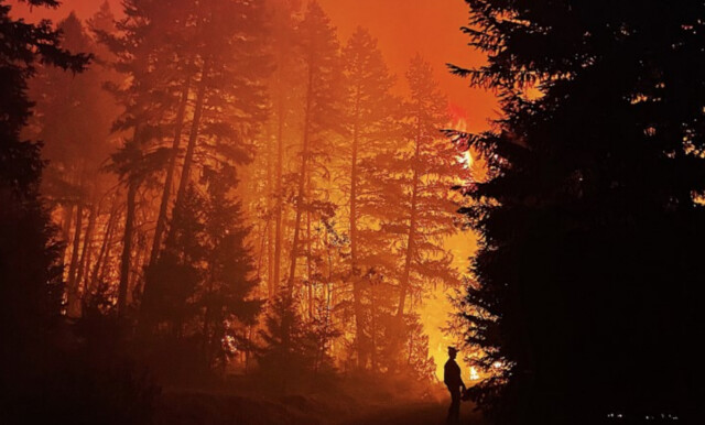 Sparks Lake wildfire running north unchallenged, public urged to stay out of evacuation zones
