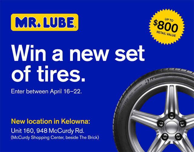 Contest Win A New Set Of Tires From Mr Lube Castanet Net