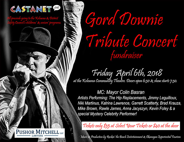 Contest - Win tickets to Good Downie Tribute Concert