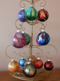 Alcohol Ink Christmas Ornaments.Alcohol Ink Glass Christmas Ornaments Castanet Net