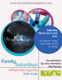 Family Saturday: Oil Pastel Skies