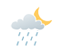 Partly cloudy. Becoming cloudy near midnight with 30 percent chance of showers overnight. Wind north 20 km/h becoming light this evening. Low 10.