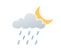 Mainly cloudy with 40 percent chance of flurries or rain showers early this evening. Clearing late this evening. Low minus 4.