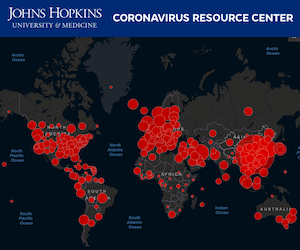 Johns Hopkins Coronavirus COVID-19 Map
